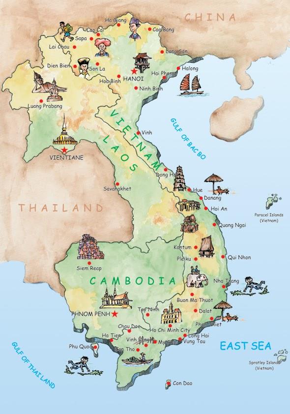 Vietnam Map, Travel Maps, Tour Map, Route Map, Provincial Maps