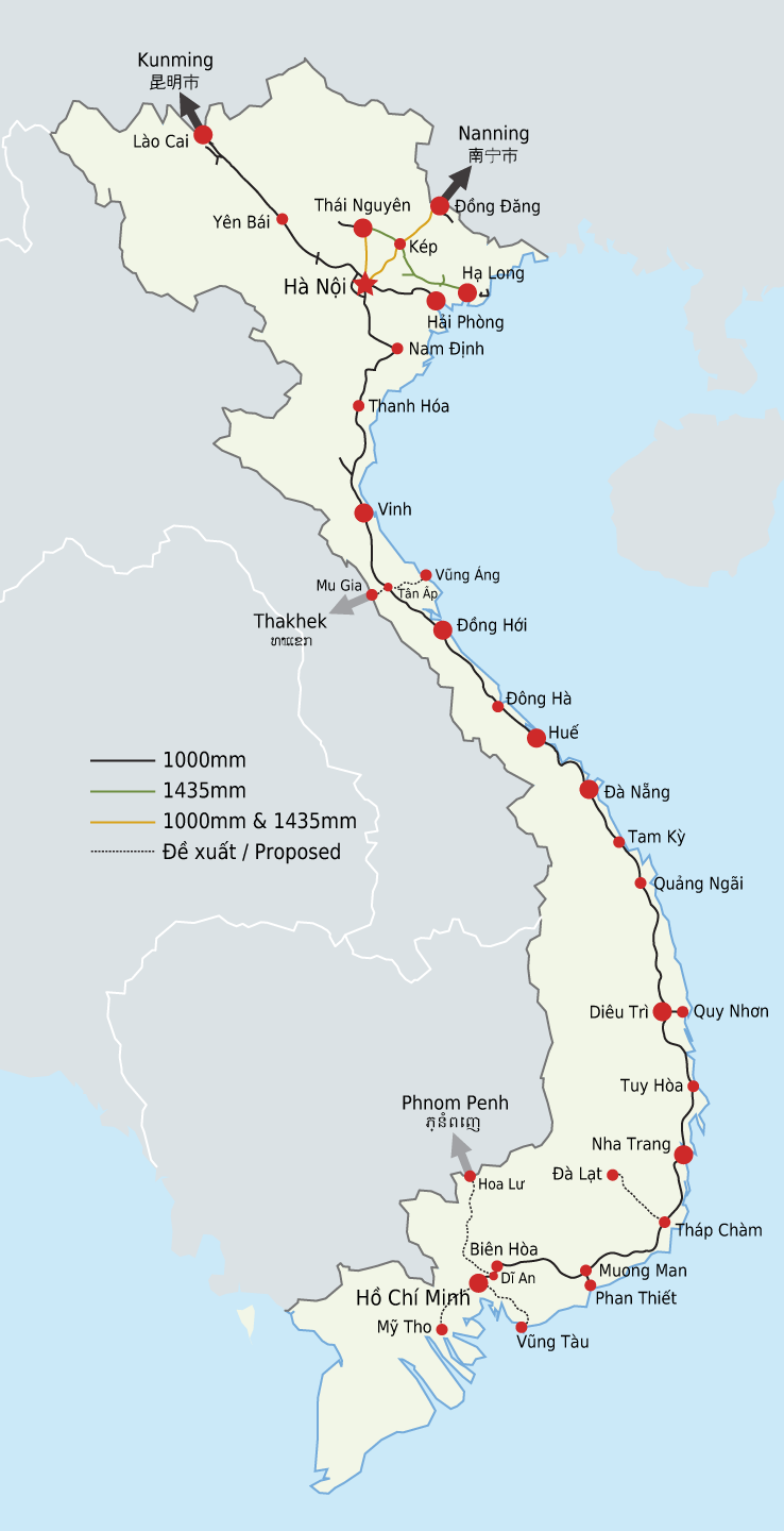 vietnam railways map